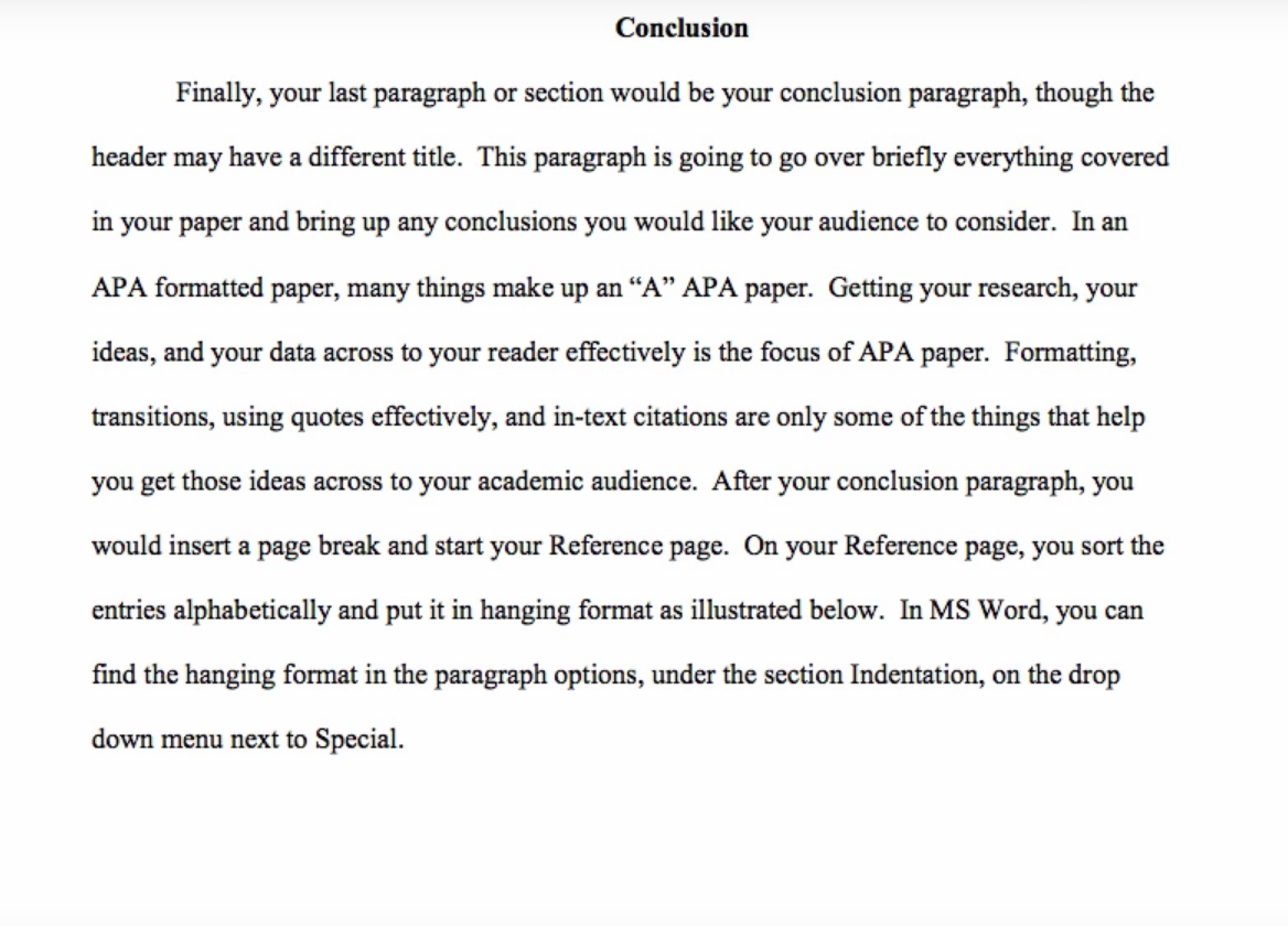 Conclusion On Research Paper